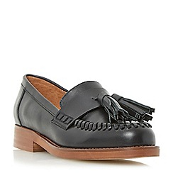 Dune - Black 'Gallarie' whipstitch tassel loafer