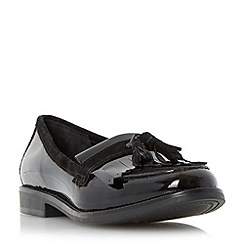 Dune - Black fringe and tassel trim loafer