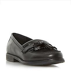 Dune - Black 'Goosie' fringe and tassel trim loafer