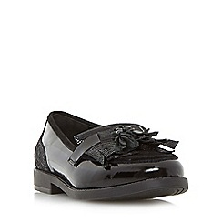 Dune - Black 'Goodie' tassel and fringe detail loafer shoe