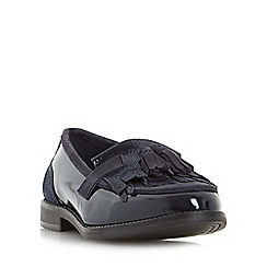 Dune - Navy 'Goodie' tassel and fringe detail loafer shoe