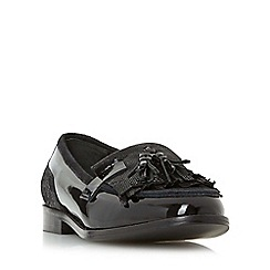 Dune - Black 'W goodie' wide fit tassel and fringe detail loafer shoe