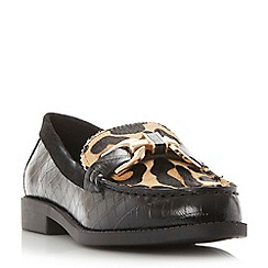 Dune - Multicoloured 'Genre' reptile print leather loafer