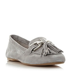Dune - Grey 'Gen' snaffle detail tassel loafer shoe