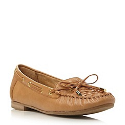 Dune - Brown leather woven moccasin