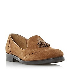 Dune - Grey brogue tassel detail loafer