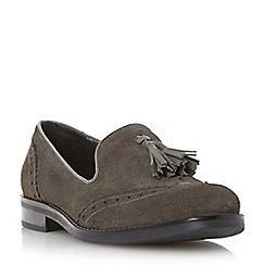 Dune - Brown brogue tassel detail loafer