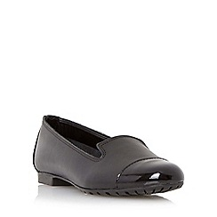 Dune - Black patent toecap slipper cut shoe