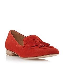 Dune - Red suede tassel fringed loafer