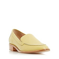 Dune - Yellow 'Garra' stitch detail slipper cut loafer