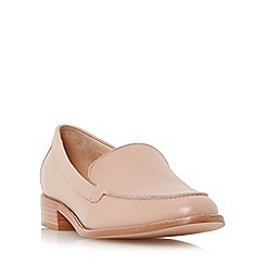 Dune - Light pink 'Garra' stitch detail slipper cut loafer