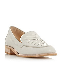 Dune - Off white 'Geniva' stitch detail vamp loafer