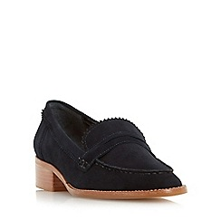 Dune - Black 'Gandy' unlined suede loafer