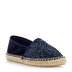 Dune - Blue glitter espadrille shoe
