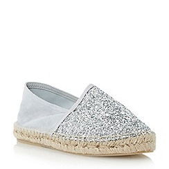 Dune - Metallic glitter espadrille shoe
