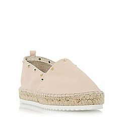 Dune - Natural 'Galacta' stud detail slip on espadrille shoe