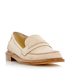 Dune - Natural 'Gerry' saddle detail leather loafer