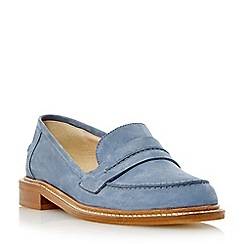 Dune - Blue 'Gerry' saddle detail leather loafer