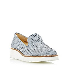 Dune - Grey 'Garnish' slipper cut flatform shoe