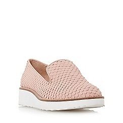 Dune - Light pink 'Garnish' slipper cut flatform shoe