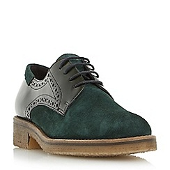 Dune - Green 'Faithe' crepe sole lace up shoe