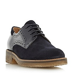 Dune - Navy 'Faithe' crepe sole lace up shoe