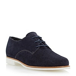 Dune - Blue suede perforated lace up shoe