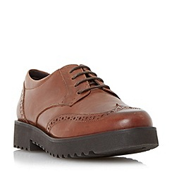 Dune - Tan 'Feean' thick sole lace up brogue shoe