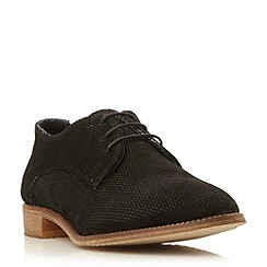 Dune - Black 'Faris' suede textured oxford shoe