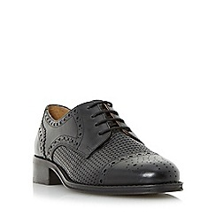 Dune - Black 'Finchly' weave embossed leather lace up shoe