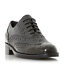 Dune - Grey 'Finn' leather brogue lace up shoe