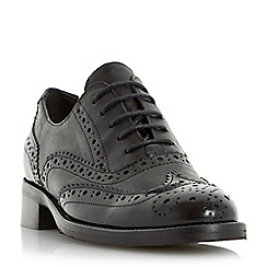 Dune - Black 'Finn' leather brogue lace up shoe