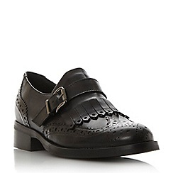 Dune - Black 'Fabia' fringe detail brogue monk shoe