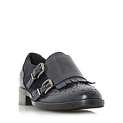 Dune - Navy 'Fiona' fringe detail brogue monk shoe