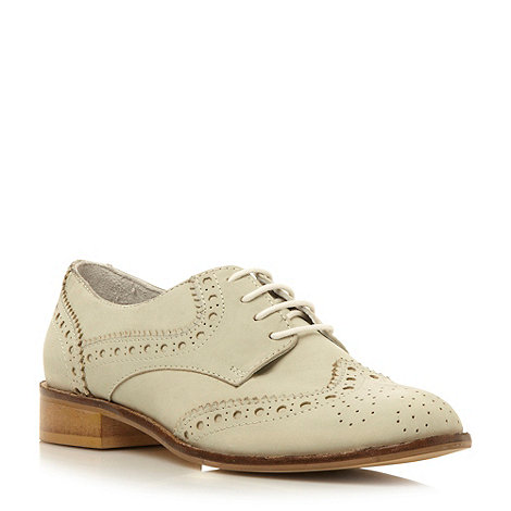 Dune - Mint leather lace up brogue