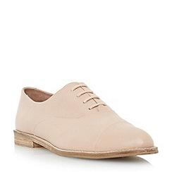 Dune - Pink pointed toe leather oxford shoe