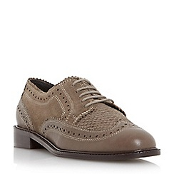 Dune - Taupe 'Flint' leather lace up shoe
