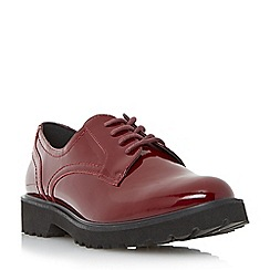 Dune - Red chunky sole lace up derby shoe
