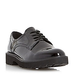 Dune - Black chunky sole lace up derby shoe