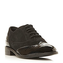 Dune - Black suede lace up brogue