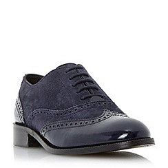 Dune - Blue suede lace up brogue