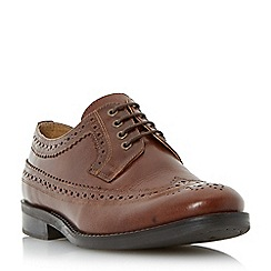 Dune - Brown leather lace up brogue