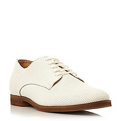 Dune - Neutral leather lace up shoe