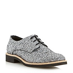 Dune - Grey glitter lace up shoe