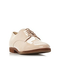 Dune - Natural 'Faboux' lace up shoe