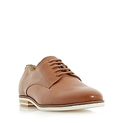 Dune - Tan 'Feeling' white sole lace up shoe