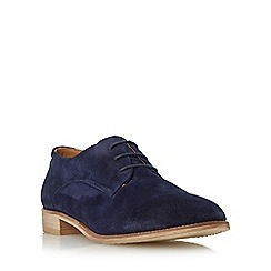 Dune - Navy 'Faris' suede lace up shoe