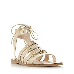 Dune - Gold 'Lorelli' stud detail gladiator sandal