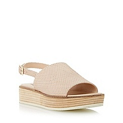 Dune - Neutral reptile print flatform slingback sandal