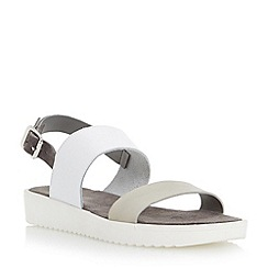 Dune - Grey two part leather eva sole sandal